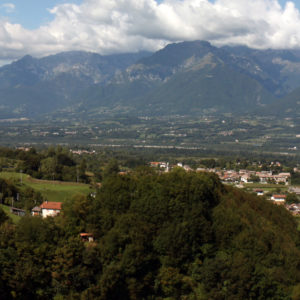 Panorama dal Castello di Zumelle