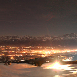 Panoramica notturna Valbelluna rit